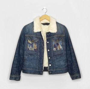 CITIZENS HUMANITY Jean Sherpa Embroidered Jacket